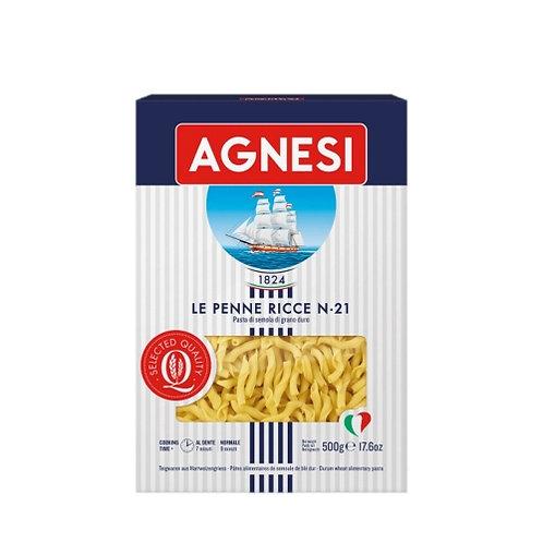 Pâtes Penne Ricce n°21 boîte 500g Agnesi