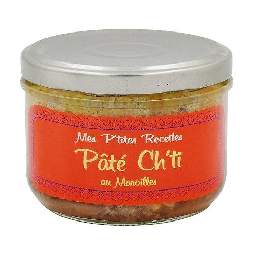 Pâté Ch'ti de porc au Maroilles bocal 220g