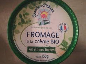fromage bio crème ail et fines herbes