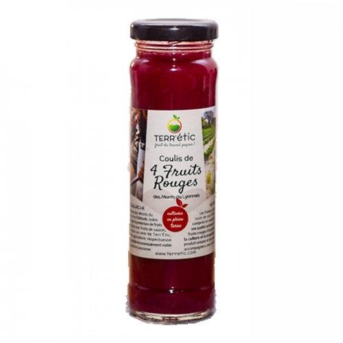 Coulis de 4 fruits rouges. bocal 156ml