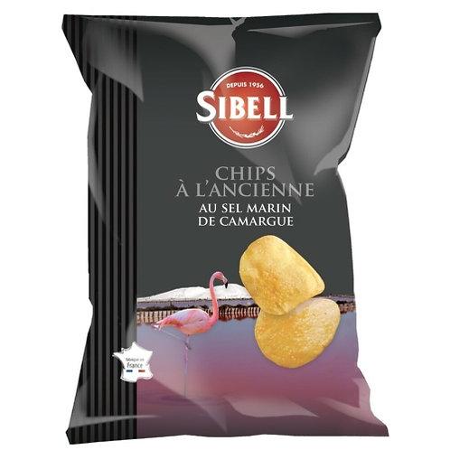 Chips à l'ancienne sel de Camargue. pqt 135g Sibell