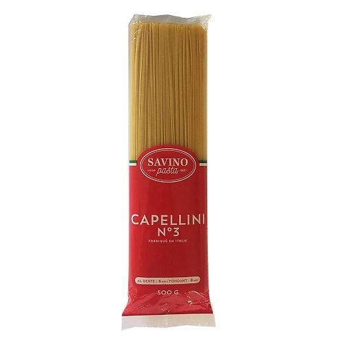 Pâtes Capellini n°3. pqt 500g Savino Pasta