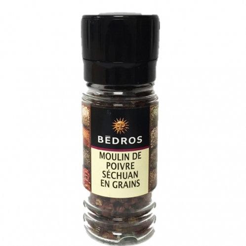 Moulin poivre séchuan en grains. flacon 20g Bedros