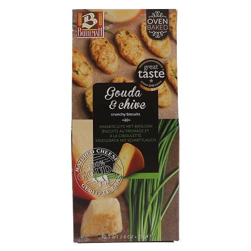 Biscuits apéritifs gouda & ciboulette paquet 75g