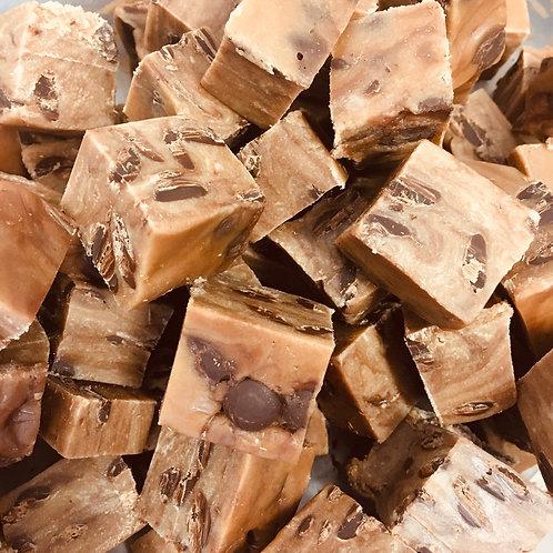 Chocolate Chip Caramel Fudge