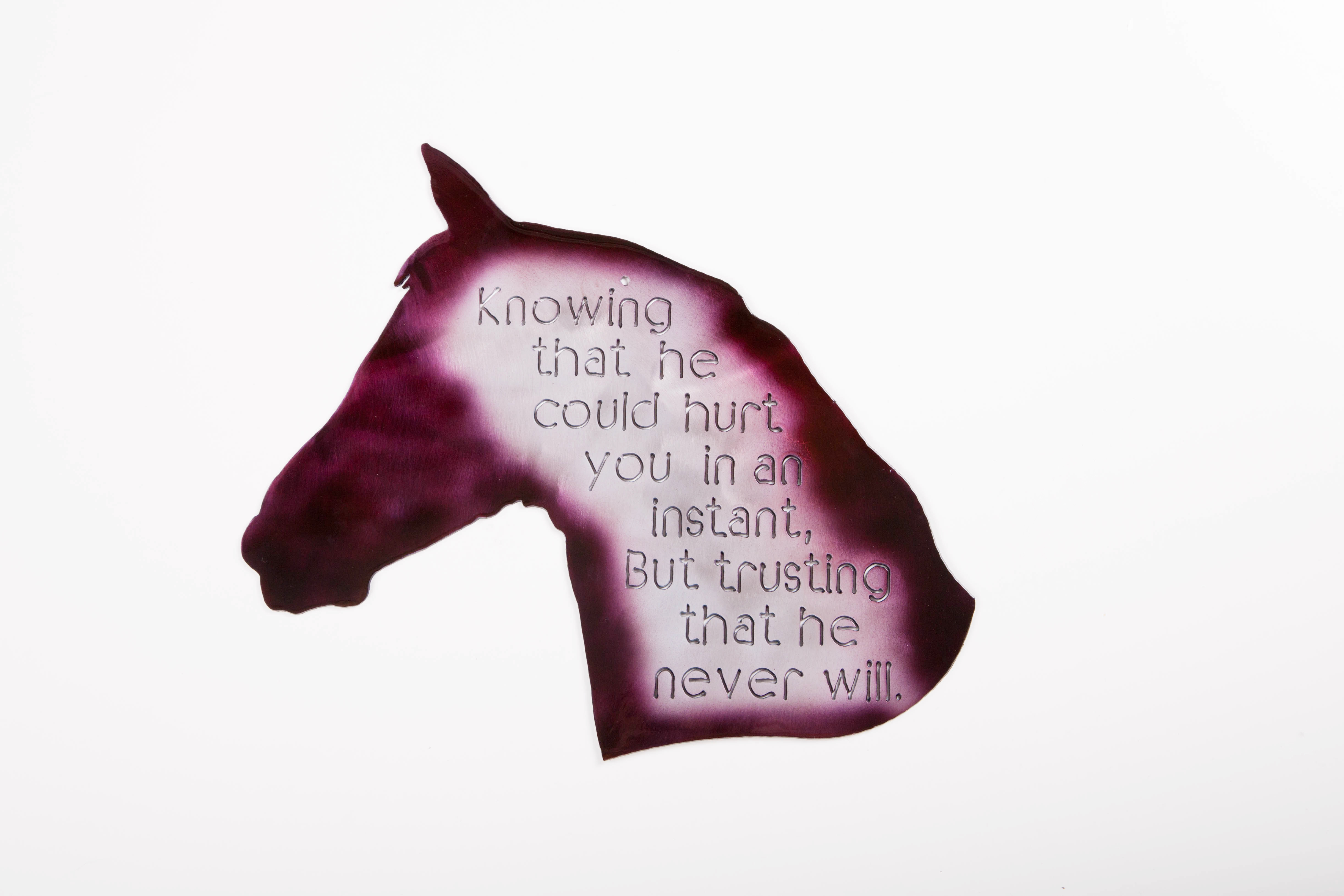 Horse-Knowing that (Purple)