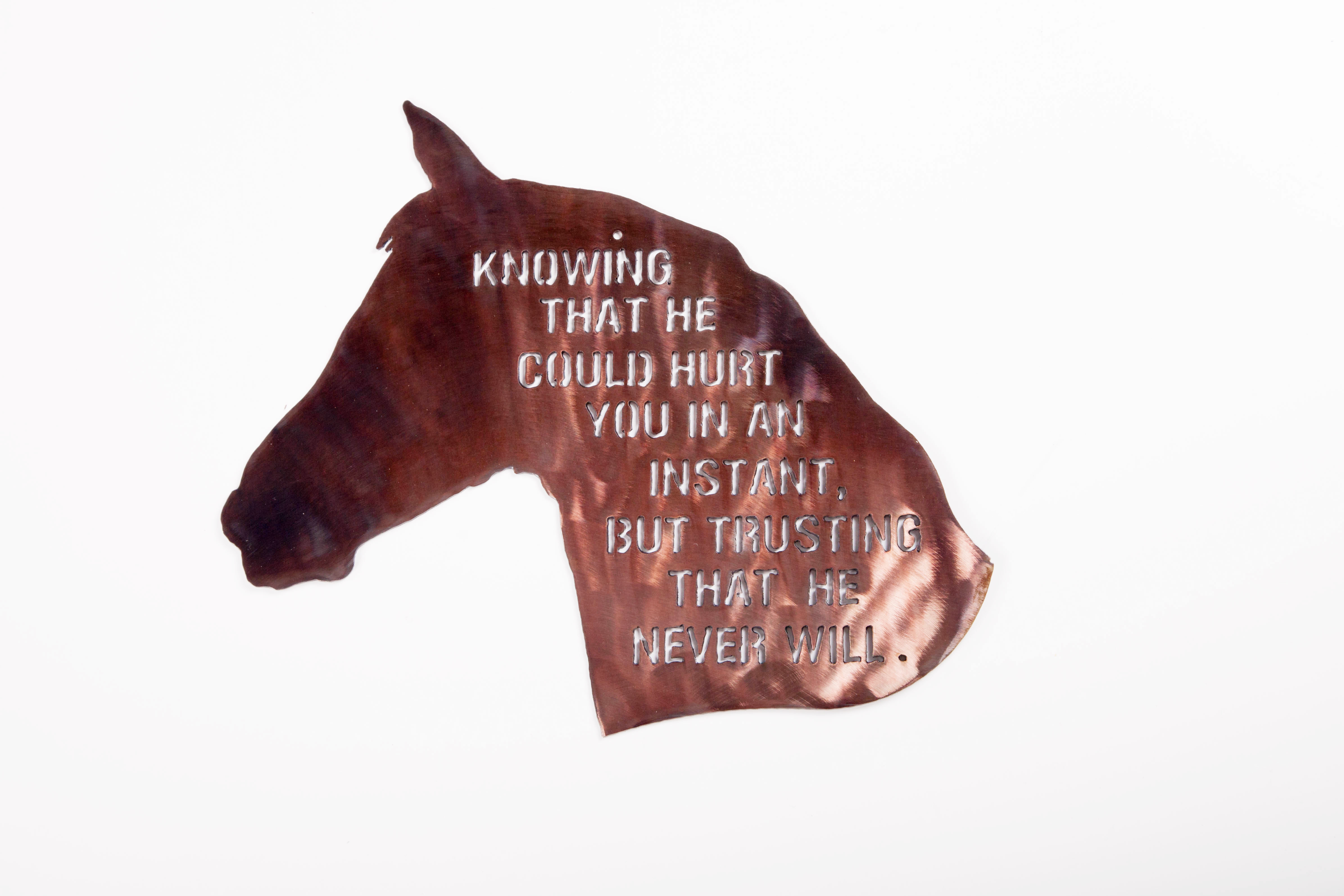 Horse- Knowing that he will- (P)