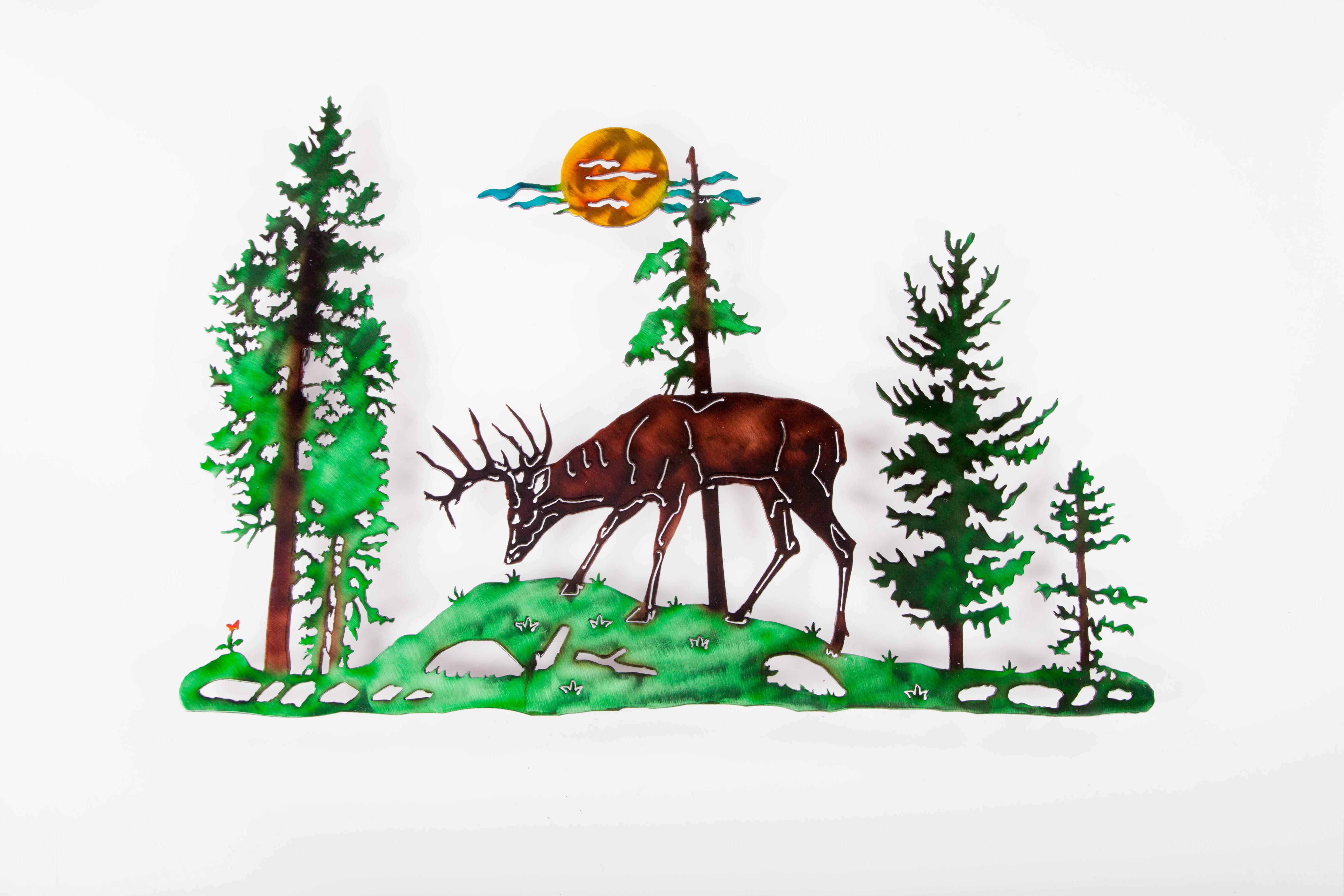Deer in Pines (LC)