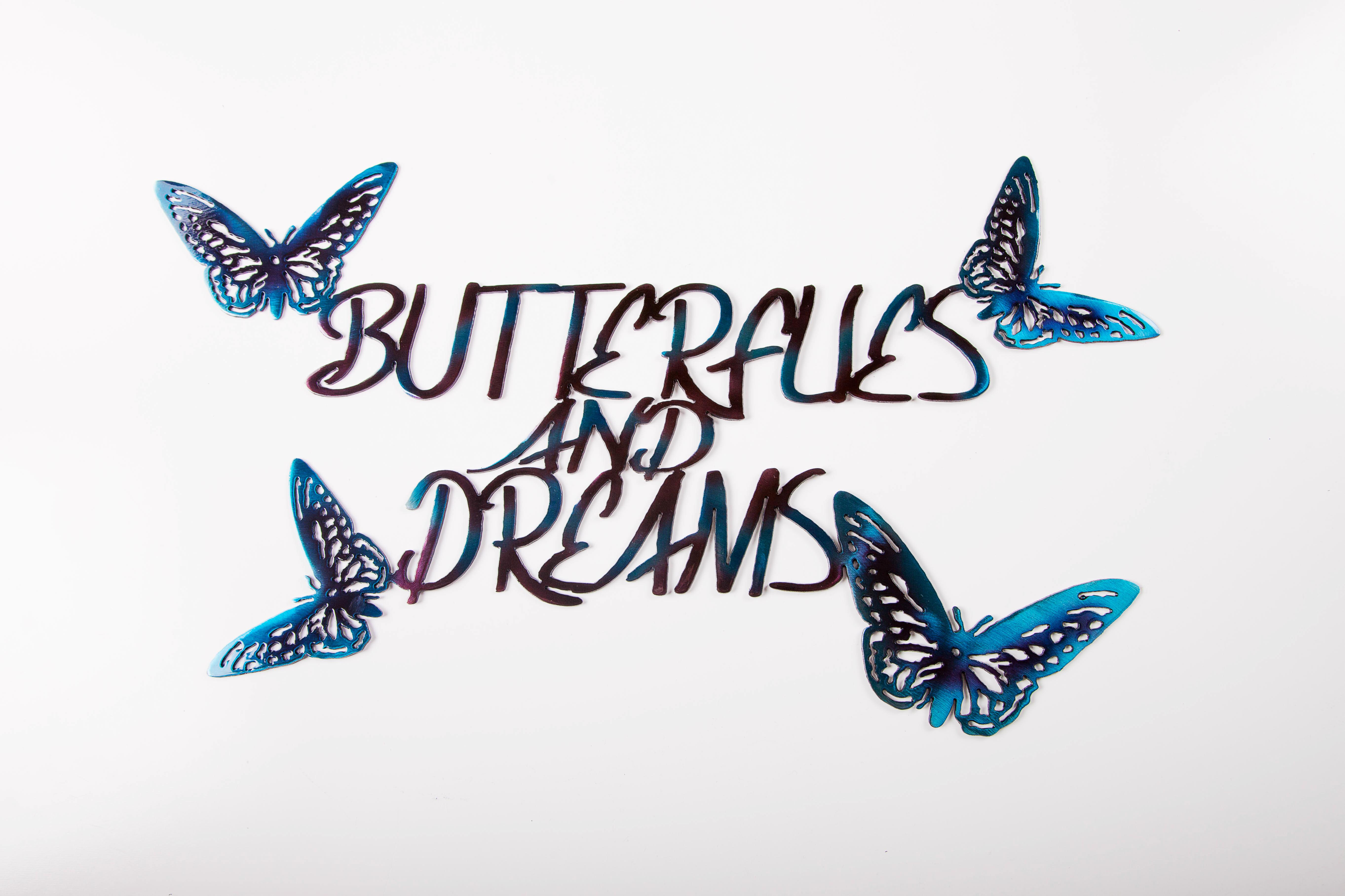 Butterflies and Dreams(purple/Blue)
