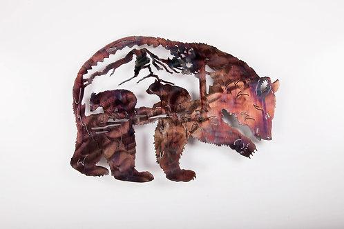 Bear w/Cubs inside