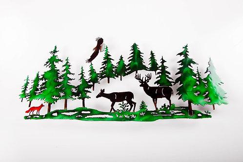 Deer w/ Fox and Eagle (C)