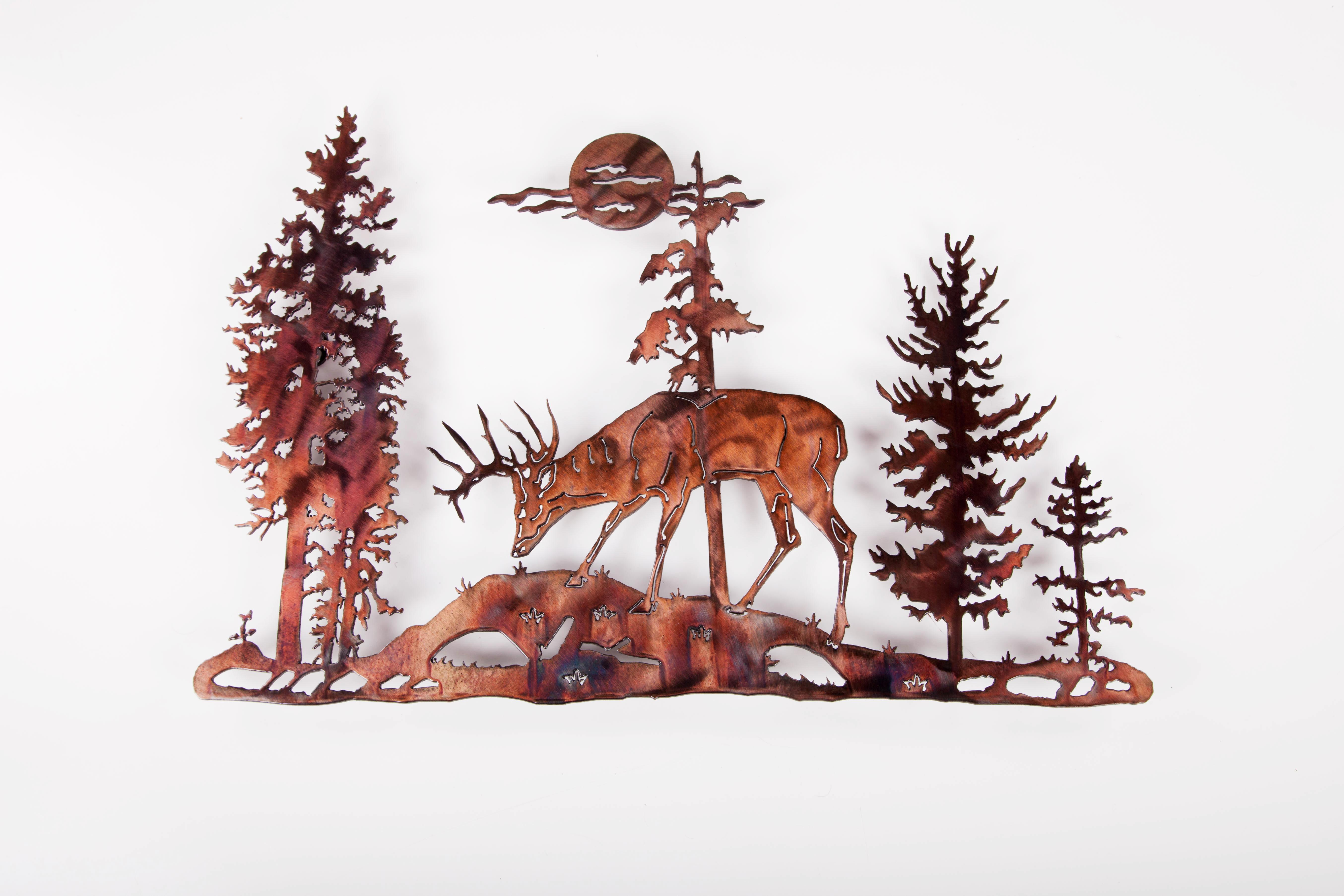 Deer in Pines (P)