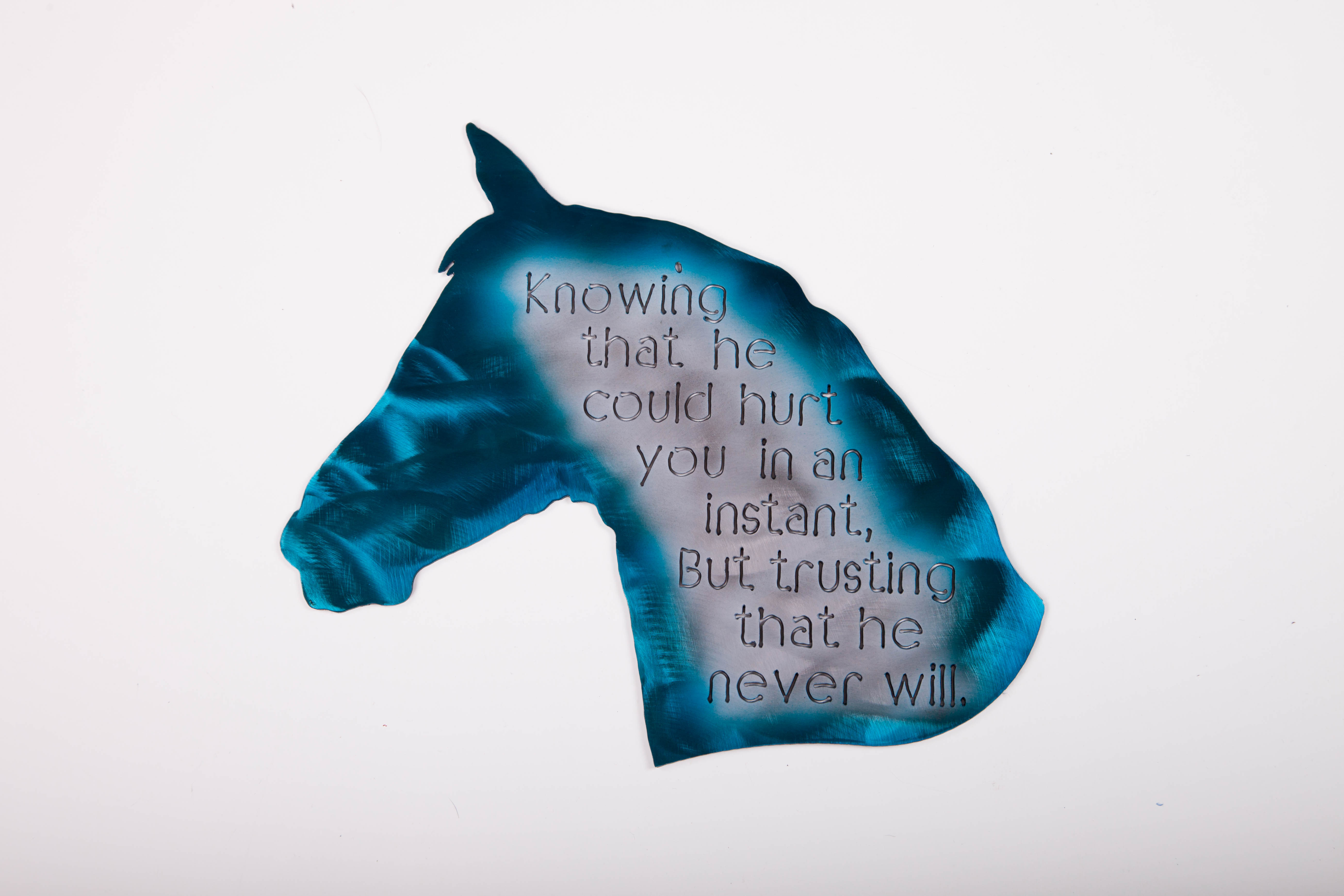 Horse Knowing (Blue)