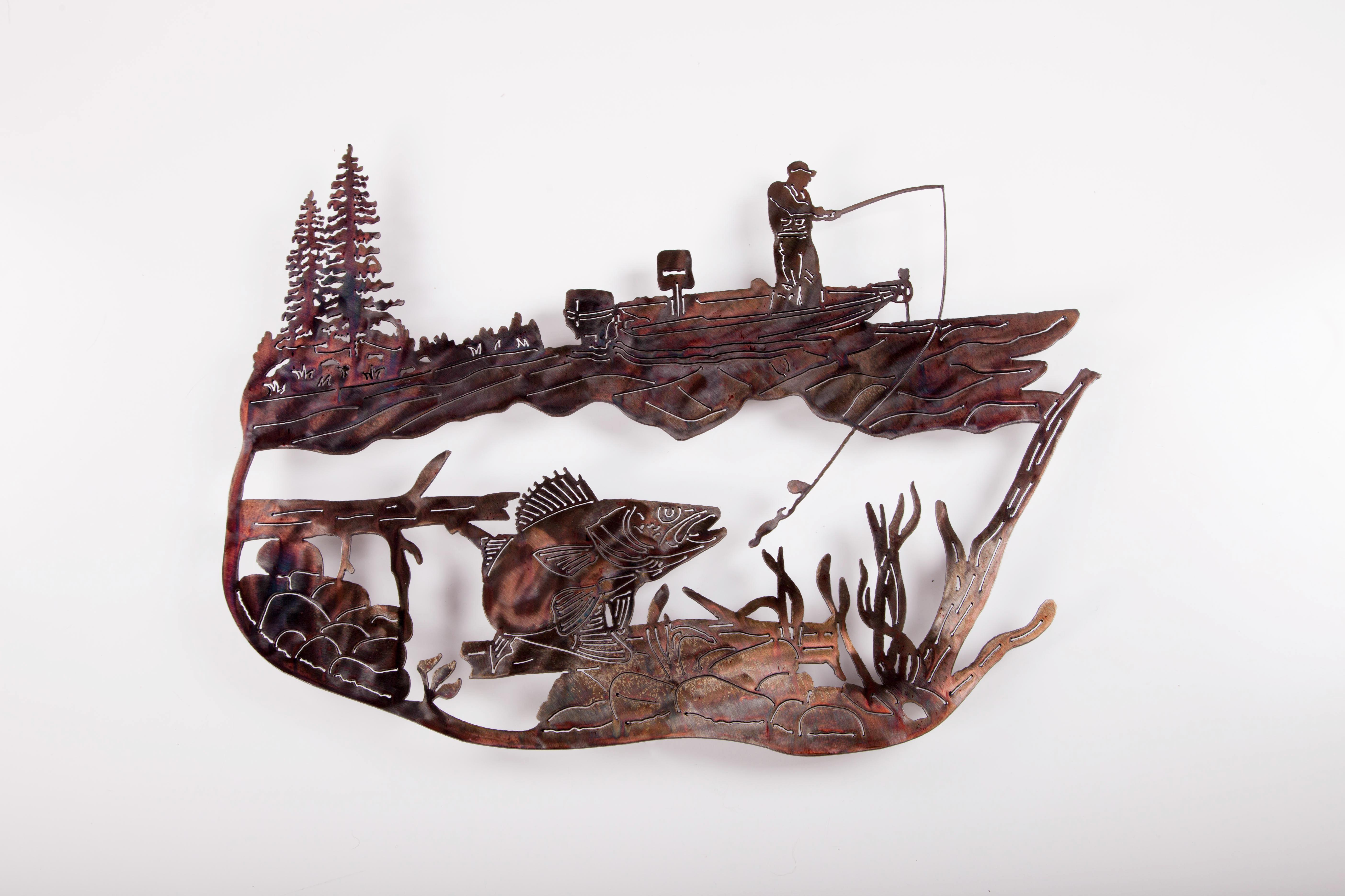 Fishing Scene -Walleye (P)