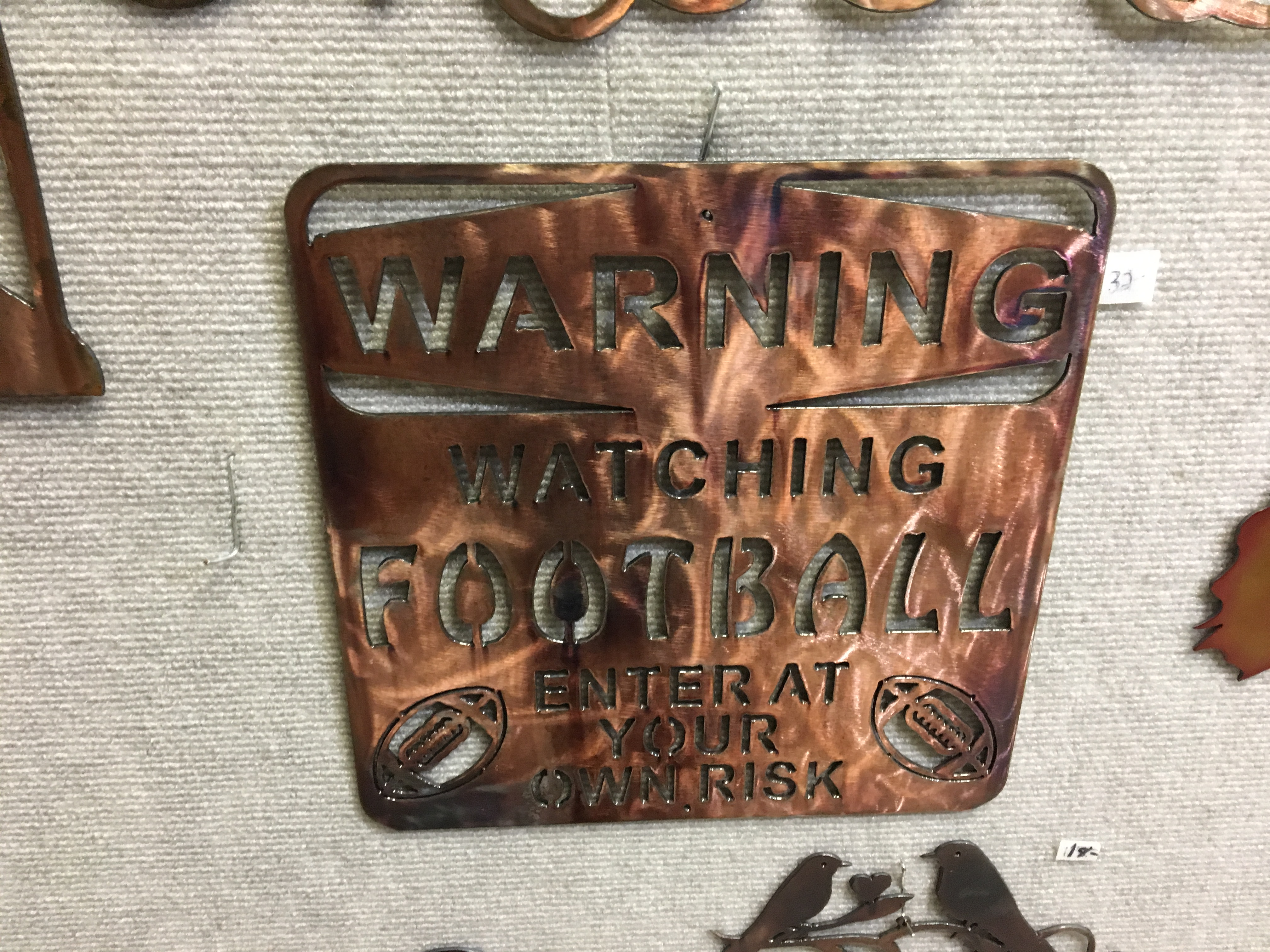 Warning - Watching Football