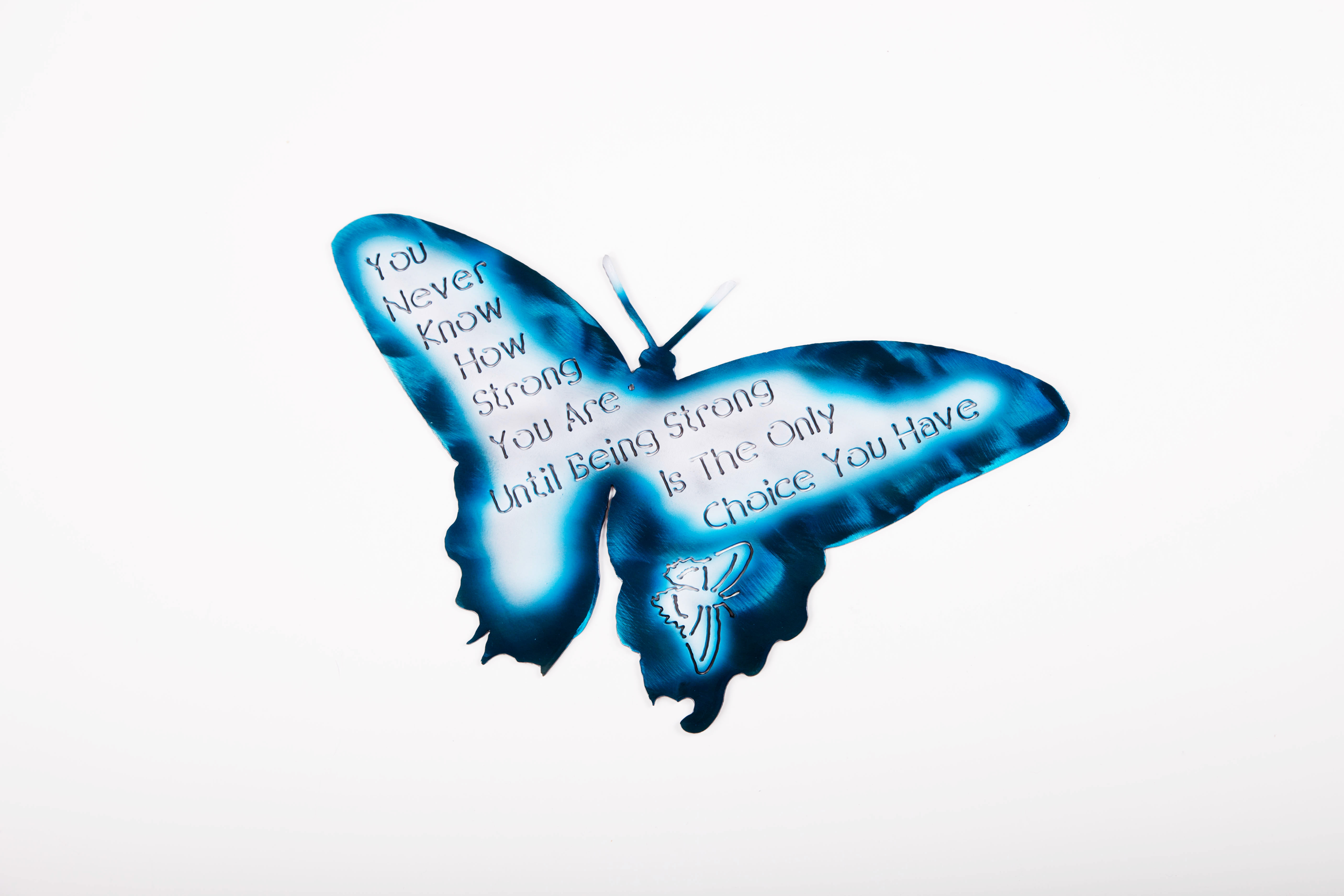 How Strong - Butterfly (Blue)