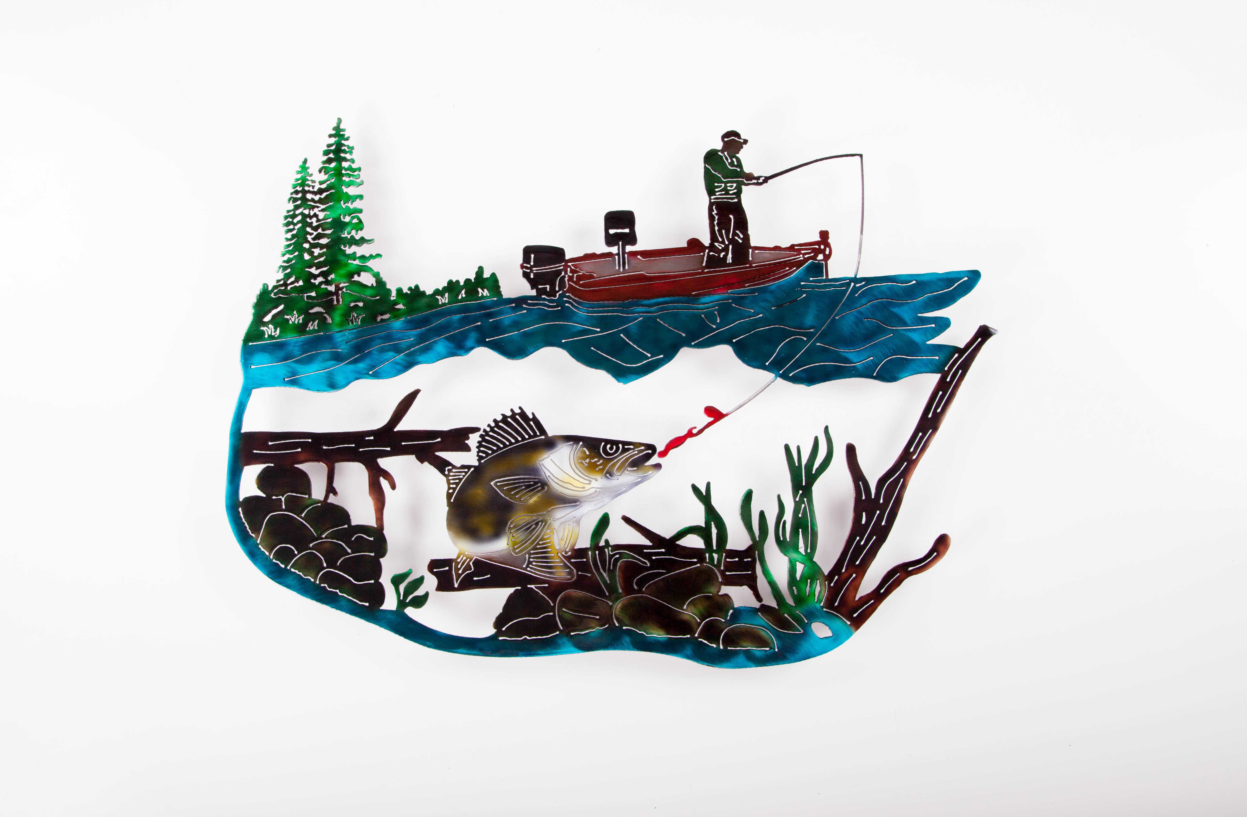 Fishing Scene - Walleye (C)