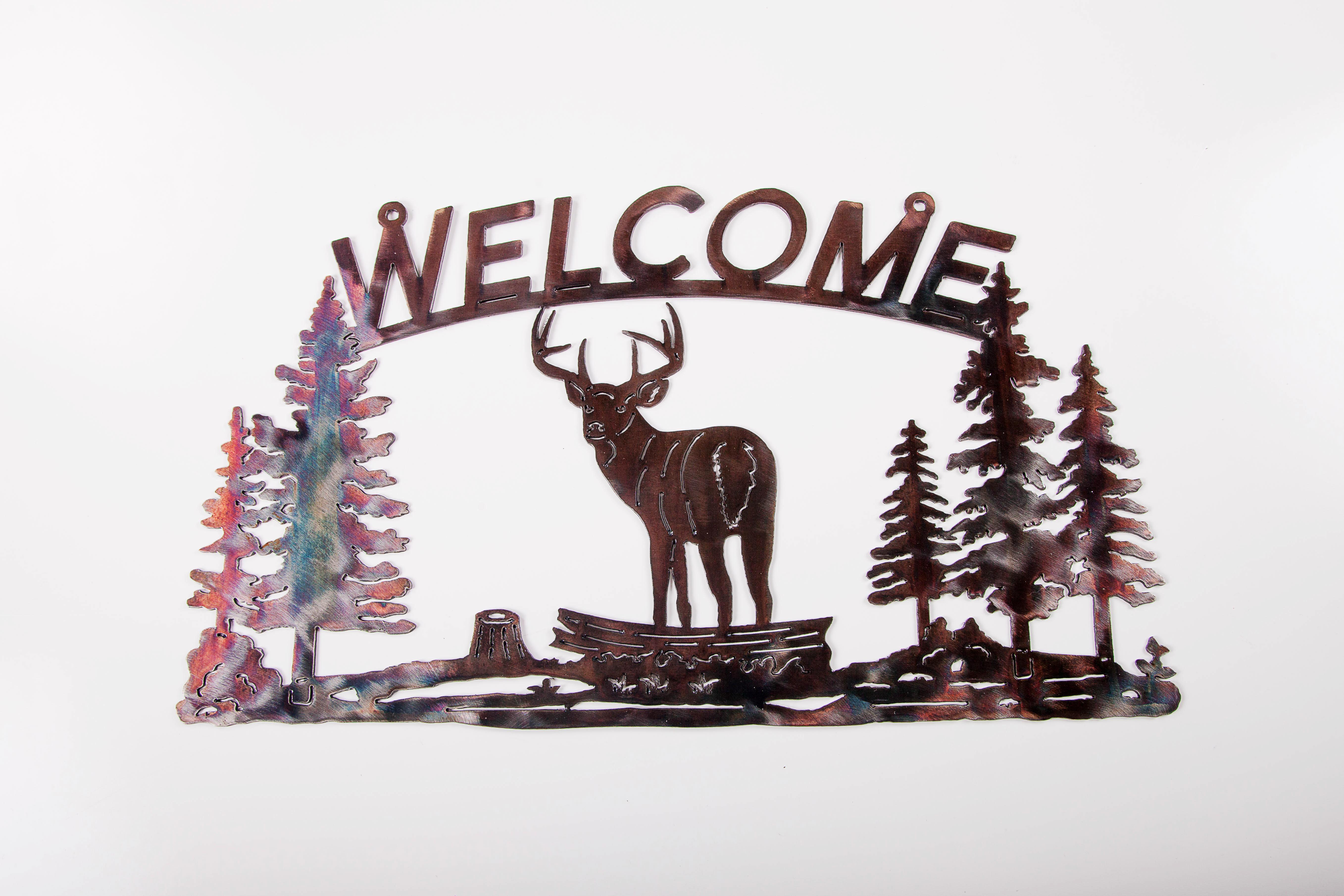 Welcome Sign - Deer