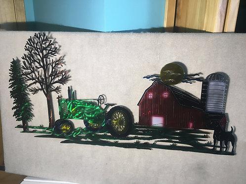 JD Farm Scene w/ Dog