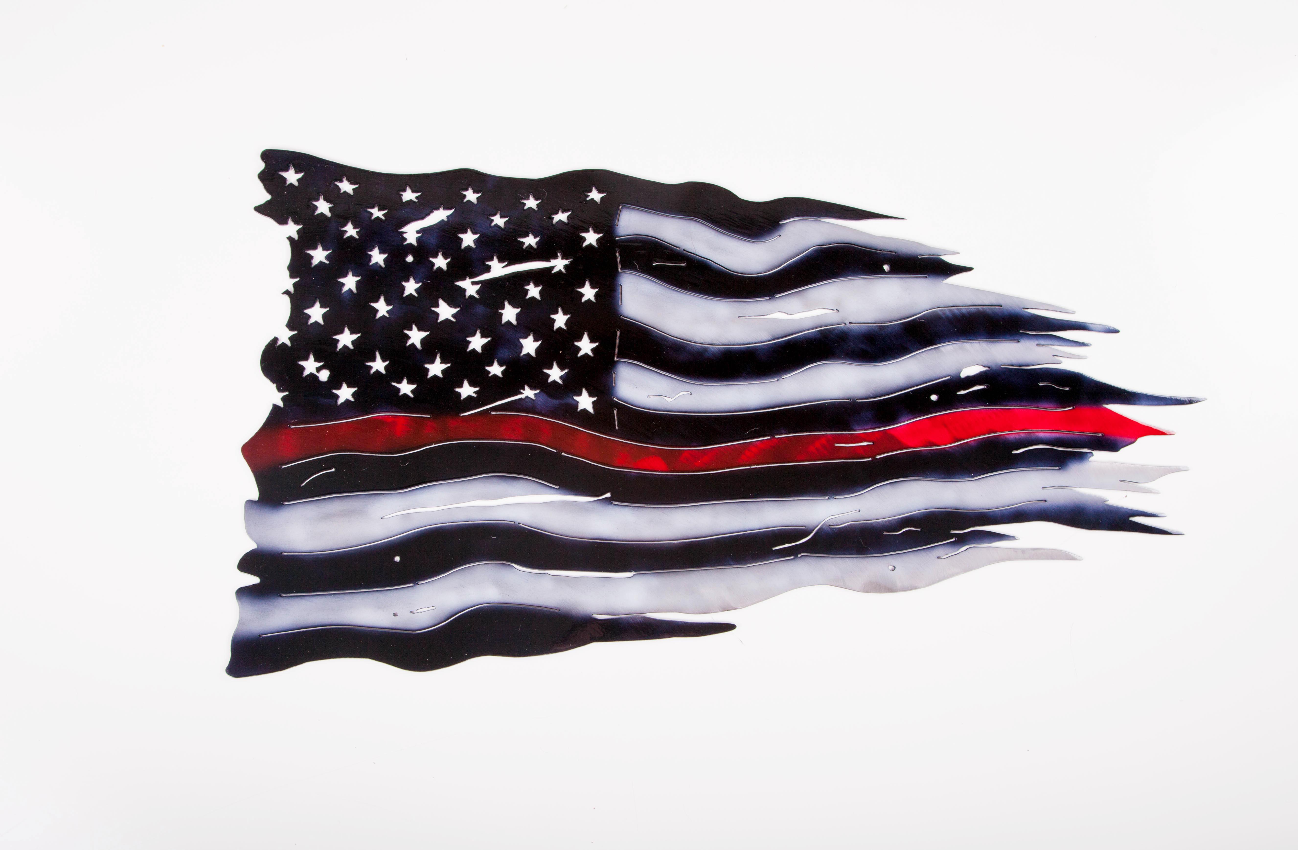 Red Strip Flag (Firefighter)