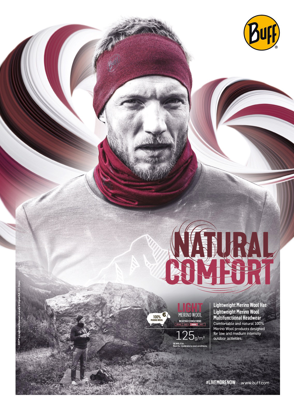 BUFF - NATURAL COMFORT - Merino Kopie
