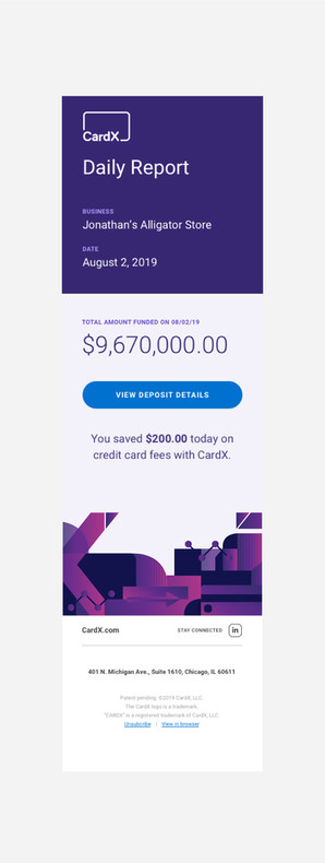 CardX Daily Report App MockUp
