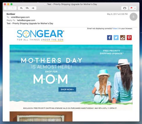 SonGear Email Blasts