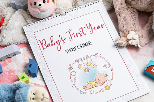 Baby's First Year Calendar PINK