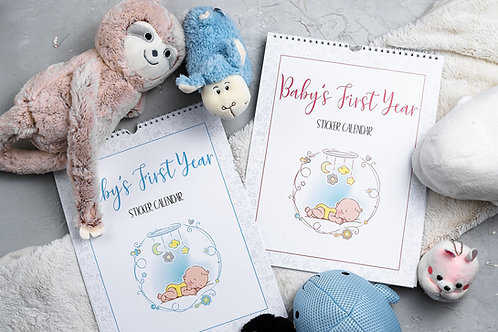 Baby's First Year Calendar Color Bundles