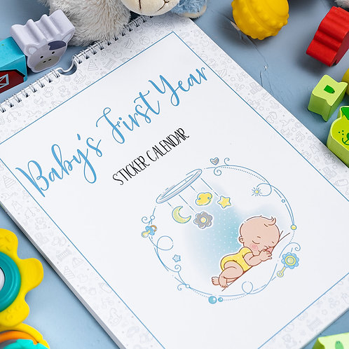 Baby's First Year- Calendar BLUE
