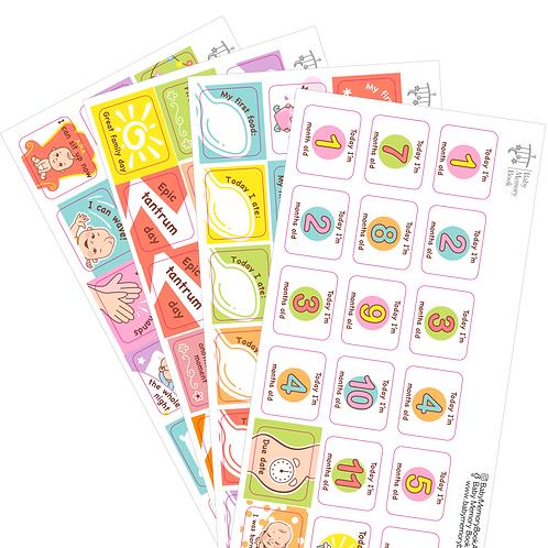 baby Calendar Sticker Sets