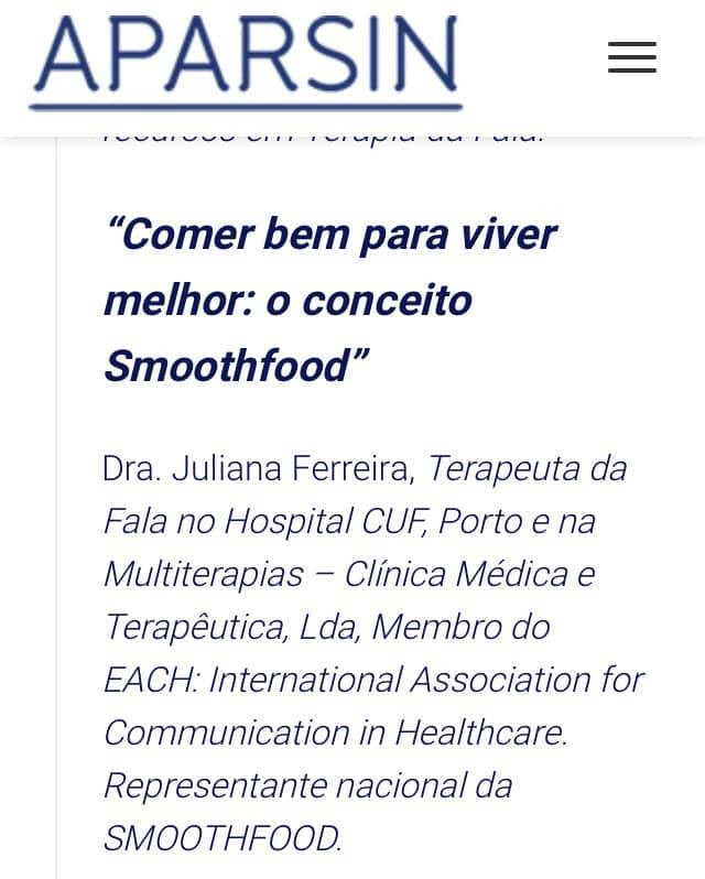 "SMOOTHFOOD PORTUGAL en el ""II Congreso Ibérico de Dolencias Neurológicas"""""