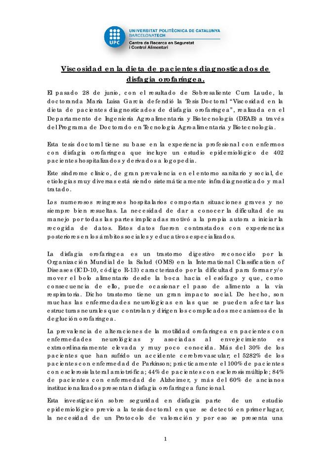 TESIS  DE LA DRA. MARÍA LUISA GARCÍA CON NUESTRO VISCO