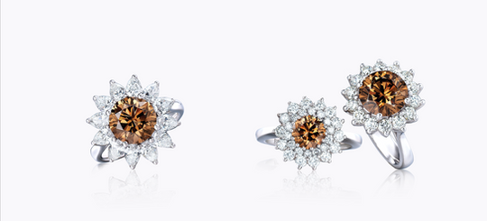 Cognac Diamond Rings