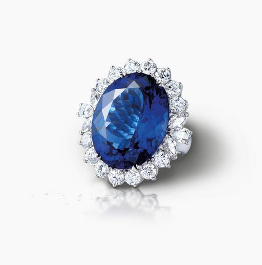 The Tanzanite and Diamond Angel Ring