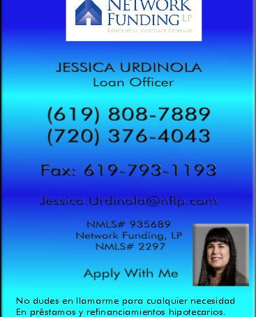 Jessica Urdinola,Loan Officer.