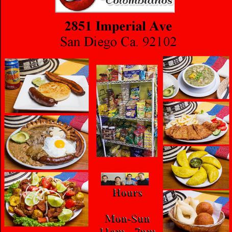 Deliciosa Comida Colombiana en     San Diego.
