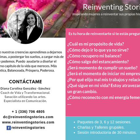 Transformational Life Coach, Diana Carolina González.