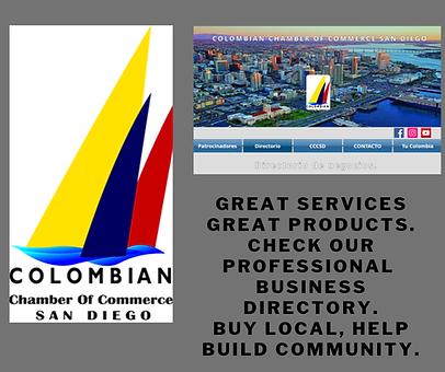 Cámara Colombiana de Comercio en San Diego, Colombian Chamber of Commerce San DIego.
