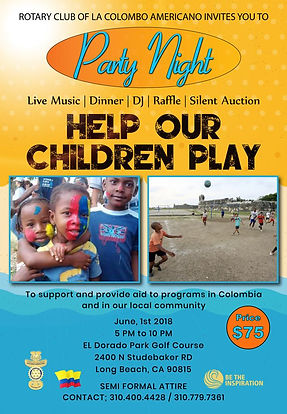 Apoyamos al Club Rotario Colombo Americano LA.   Colombian Chamber San Diego.