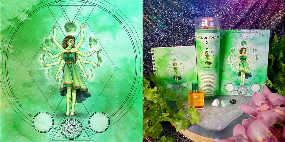 Tarot Cards - Wheel of Fortune X Set