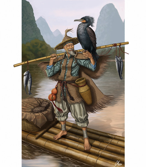 Cormorant Fisherman - Character Design
