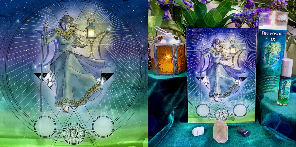 Tarot Cards - The Hermit IX - Set