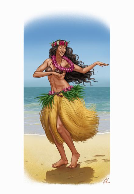 Polynesian Dancer - Character Design