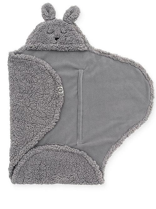 wikkel deken bunny grey Jollein