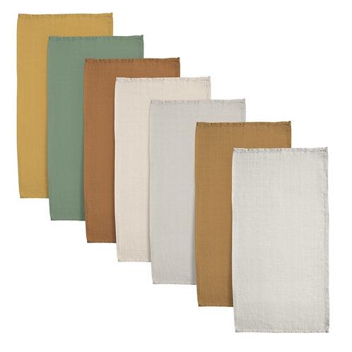 Set van 7 tetra doeken