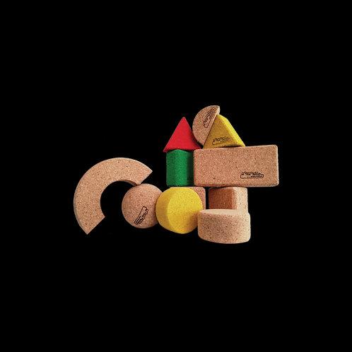 Kurken speelblokken set van 15