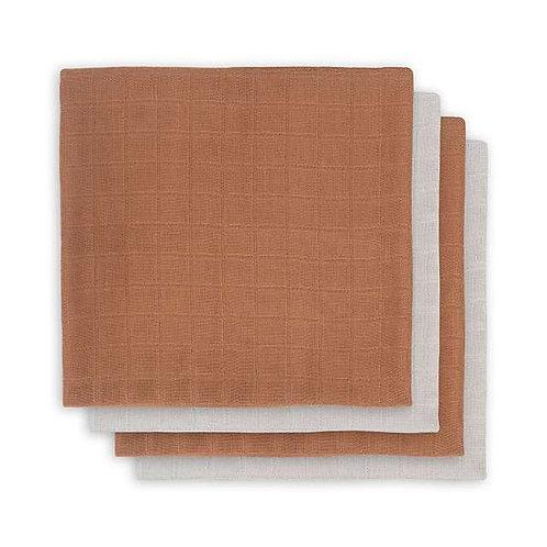 Bamboe hydrofiel doeken 70cmx70cm Camel Jollein