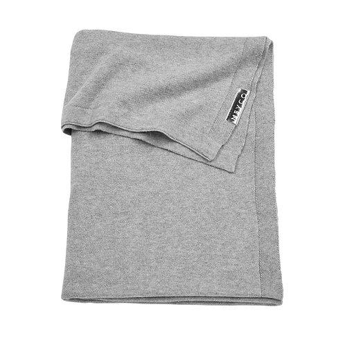 meyco basic knit deken grijs 75X100