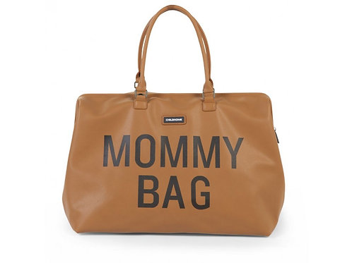 mommy bag leather look camel